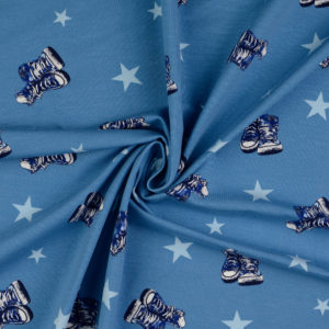 LD7270 - Jersey Stars/Shoes - 95%CO 5%EL - 150cm - CHF 22.-/m
